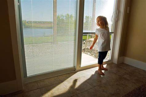 vinyl sliding patio door  internal blinds nj