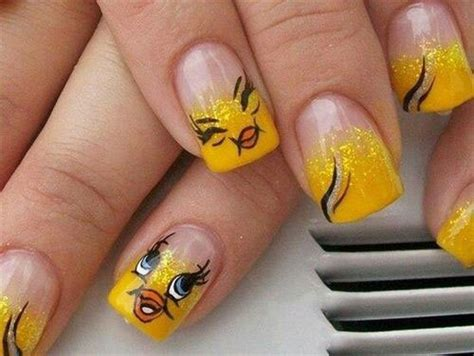 tweety bird nail art designs ideas stickers