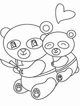 Panda Coloring Pages Bear sketch template