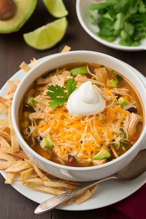 cooker chicken tortilla soup slow cooker chicken tortilla soup cooking classy