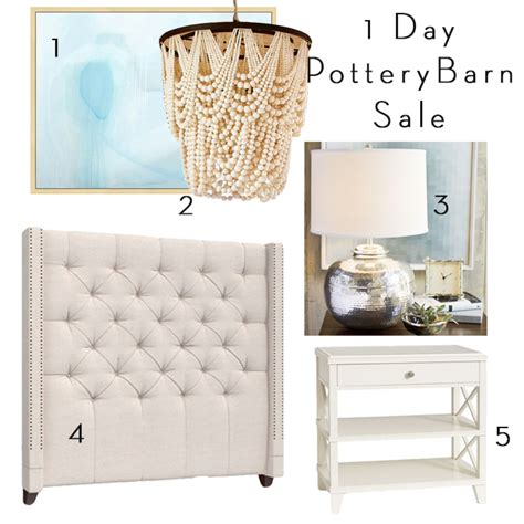 when does pottery barn sales 1 day pottery barn