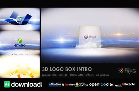 buy after effect logo template psd 3d logo box intro videohive project free download free