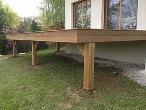 Terrasse Bois Exotique : terrasse en bois exotique ip sur pilotis escalier ~ Melissatoandfro.com Idées de Décoration