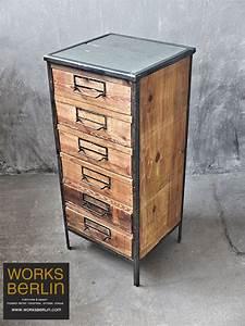 Vintage Industrial Möbel : industrial furniture schubladenschrank works berlin restauriert und verkauft original ~ Markanthonyermac.com Haus und Dekorationen