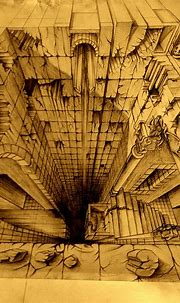 3D street painting India: a two point perspective drawing ...