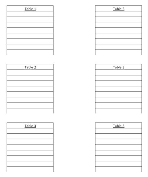 seating chart template word free wedding seating plan template word