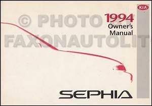 1994 Kia Sephia Repair Shop Manual Original