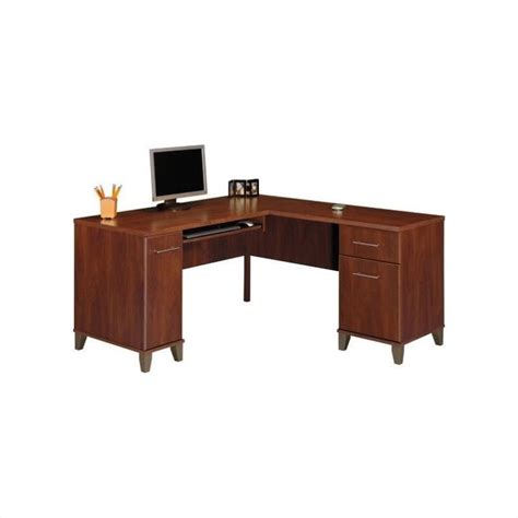 Office Furniture L Shaped Desk by Bush Furniture Somerset L Shaped Wood Home Office Set