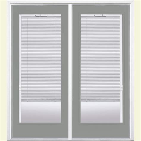 Masonite Patio Doors With Mini Blinds by Masonite 72 In X 80 In Silver Cloud Prehung Left