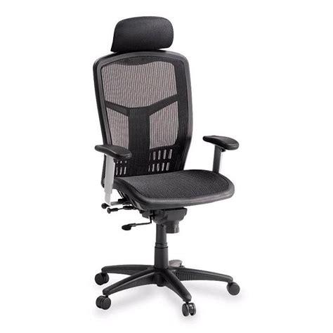 lorell high back mesh chair w headrest llr60324 mesh