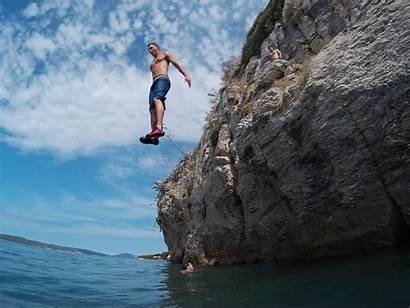 Split Cliff Jumping Water Croatia Deep Solo