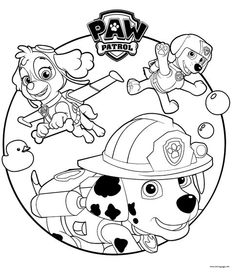 skye marshall  rocky paw patrol coloring pages printable