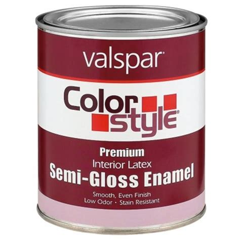 valspar brand 1 quart white colorstyle interior latex semi