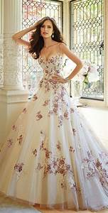 multi colored floral white bridal gowns womenitemscom With multi colored wedding dresses