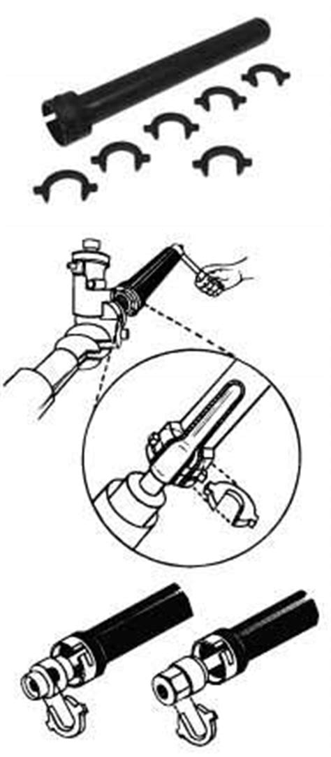 LIS-45750 Lisle Inner Tie Rod Tool Works on the Inner