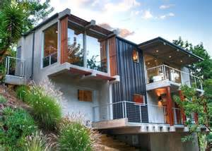 spectacular house plans for hillsides hillside and view lot modern home plans hillside home