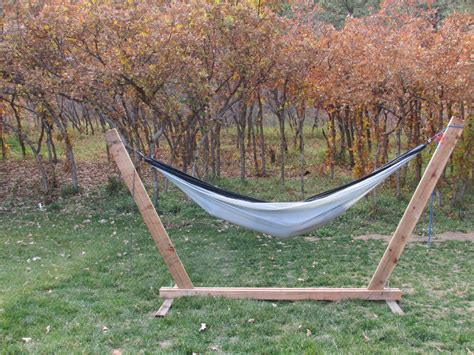 4x4 Hammock Stand by Diy Hammock Stand 3 Steps With Pictures