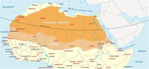 And North Map Sahara Desert Africa