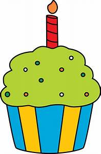Green Birthday Cupcake Clipart - The Cliparts