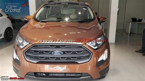 ford ecosport titanium s ford ecosport titanium s spotted at a dealership in india
