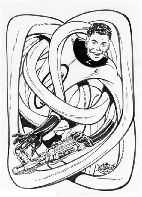 coloring pages mister fantastic printable  kids adults