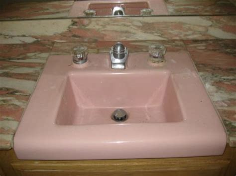 pink kitchen sink replacement parts for a bathroom faucet or toilet retro 1501