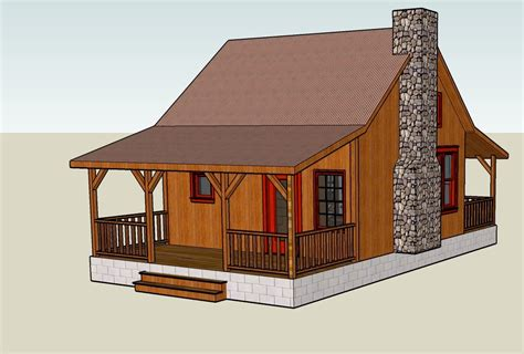 tiny cabin plans sketchup 3d tiny house designs