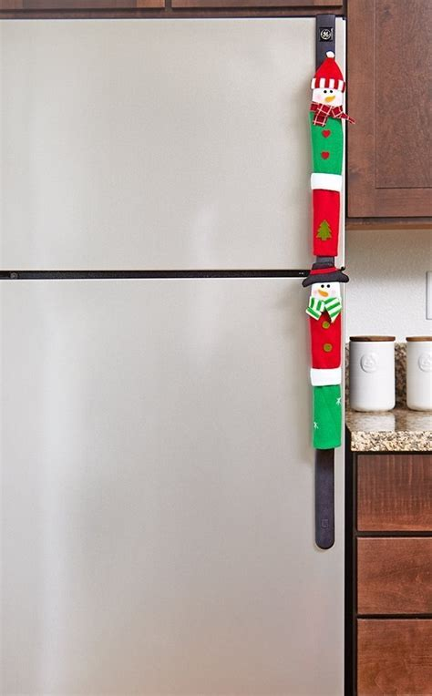 Snowman Kitchen Appliance Handle Covers   Christmas