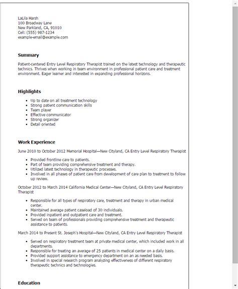 Therapist Resumes by Respiratory Therapist Resume Sle Hanoirelax