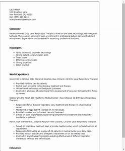 entry level respiratory therapist resume template best With free respiratory therapist resume templates