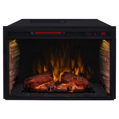 electric fireplace logs comfort smart 26 in infrared electric fireplace insert