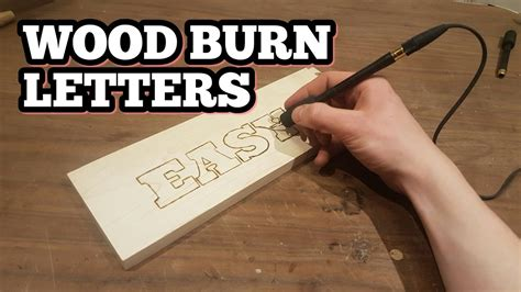 wood burn letters youtube