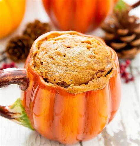 flourless pumpkin mug cake kirbies cravings