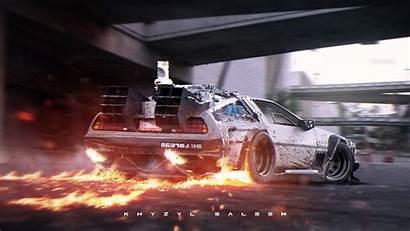 Future Travel Race Delorean Racing Sports Supercar