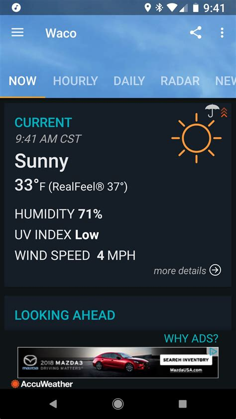 weather android apps accuweather screen main androidcentral