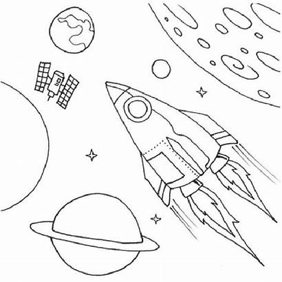 Coloring Pages Space Rocket Shuttle Ship Printable