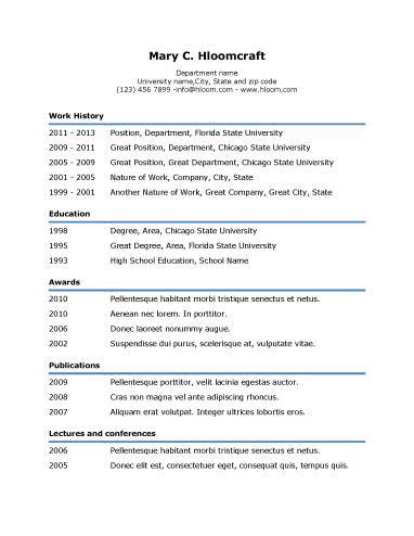 simple underline resume template resume templates