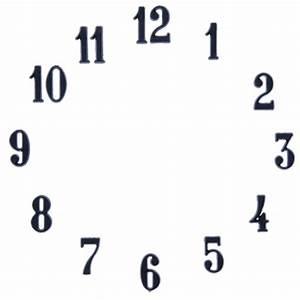 "Clock Number Set - Arabic - Black 3/4"" Clock Numbers"