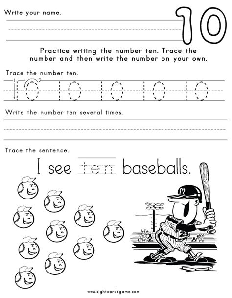 Practice Writing Numbers Worksheet 1 10  Early Childhood Writing Worksheets Myteachingstation