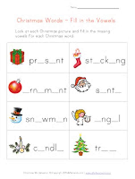 El Blog De Espe Christmas Worksheets Fill In The Vowels, Handwriting, Decoder Puzzle, Misssing