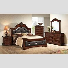 Chard Traditional Cherry Platform Bedroom Set With Full