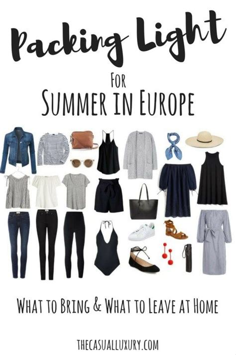 Best 25 Europe Packing Lists Ideas On Pinterest Travel