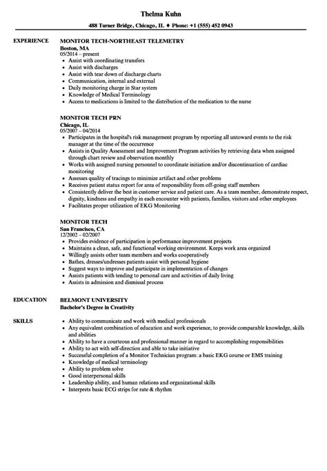 Tech Resume by Monitor Tech Resume Resume Ideas