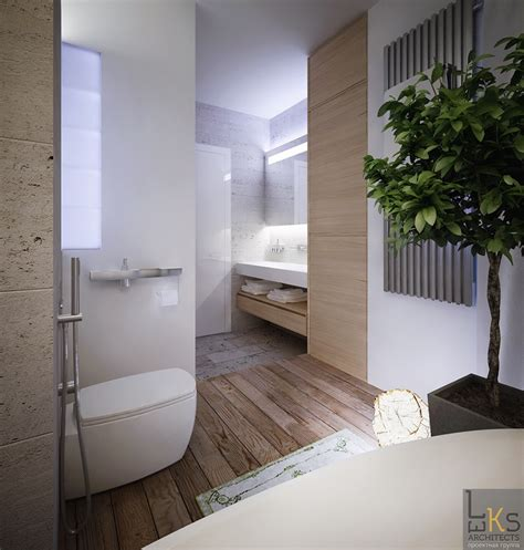 Modern Architecture Bathroom Design by Leks Architects Kiev Apartment Elemental Bathroom With