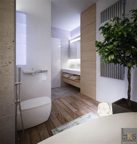 Browse modern bathroom designs and decorating ideas. Leks Architects Kiev Apartment- elemental bathroom with ...