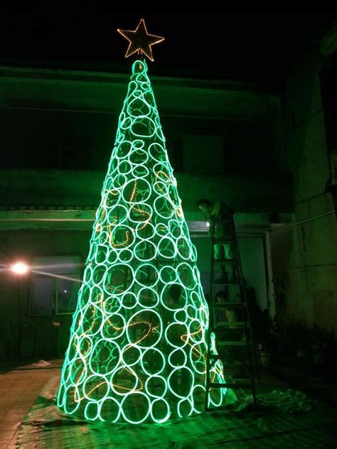 led cone tree artificial tree