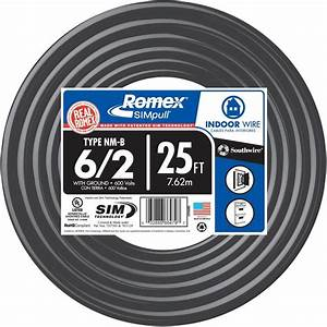 Southwire 25 Ft  6  2 Stranded Romex Simpull Cu Nm G