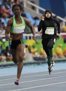 Historic Moment Sprinter Becomes First Saudi Woman To Run 100m At Olympics