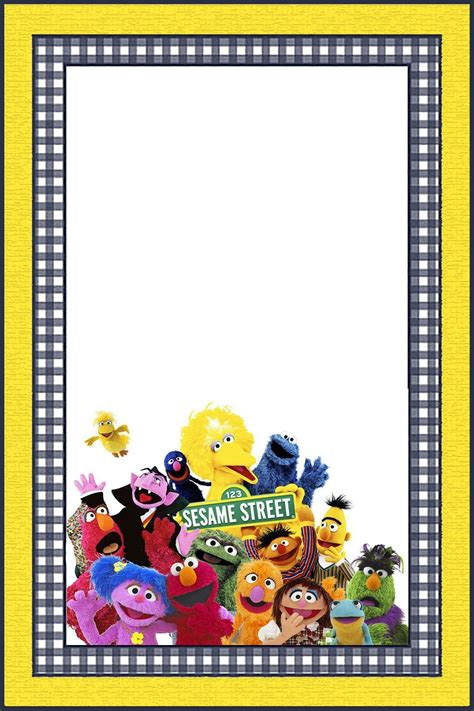printable sesame street invitation templates