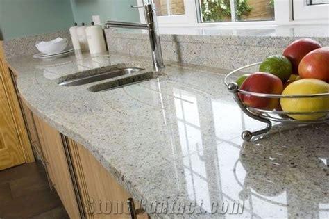 Kashmir White Kitchen Countertop, Indian White Granite